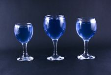 Free Glasses With A Blue Drink Royalty Free Stock Images - 1918469