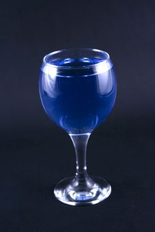 Free Glass With A Blue Drink Stock Photography - 1918582