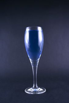 Free Glass With A Blue Drink Stock Image - 1918601