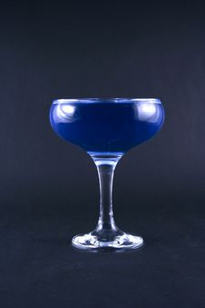 Free Glass With A Blue Drink Royalty Free Stock Image - 1918616