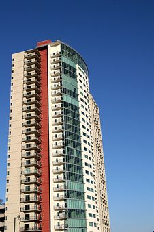 Condo Tower In Morning Royalty Free Stock Photo