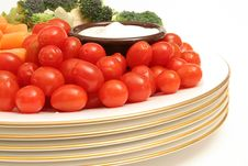 Tomatoes With Assorted Vegetables Royalty Free Stock Photo