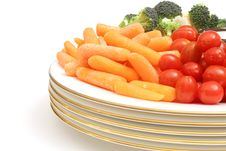 Carrots With Assorted Vegetables Stock Photo