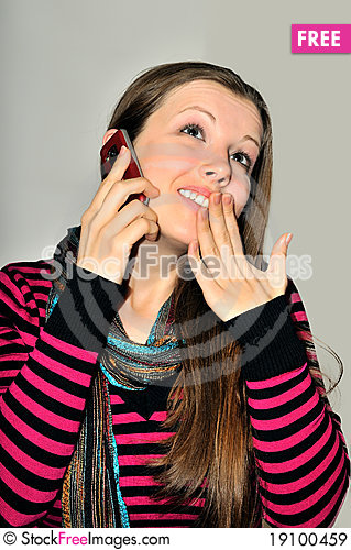 Phone News Stock Photo
