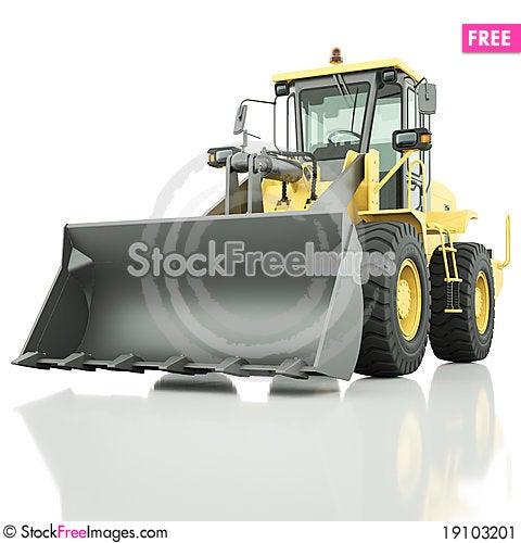 Wheel loader Stock Photo