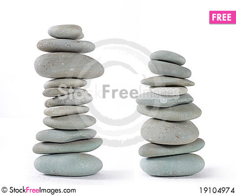 Stones balancing Stock Photo