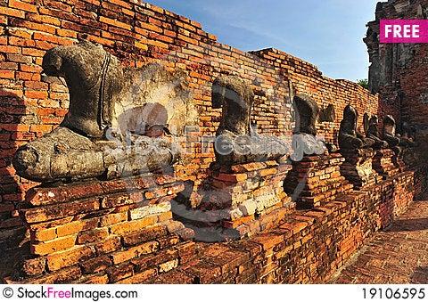 Headless Buddha ruins Stock Photo