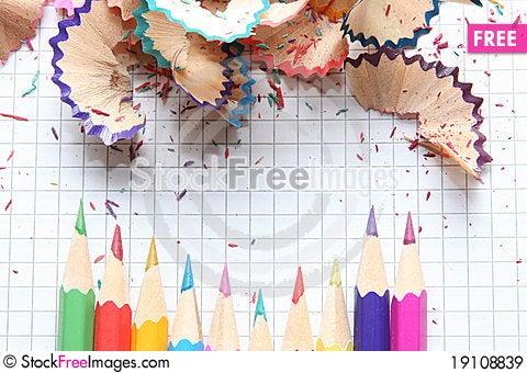 Edged pencils Stock Photo
