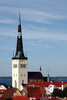 Church St. Olaf In Tallinn Stock Photo