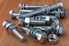 Free Chrome Nuts And Bolts Stock Images - 19101044