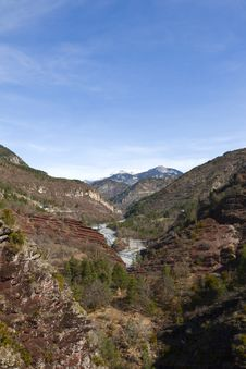 Site Of The Gorges Of Daluis, France Stock Images