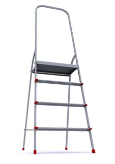 Metal Stepladder On A White Background Royalty Free Stock Image