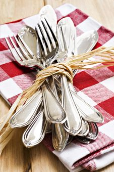 Collection Of Forks And Knifes Royalty Free Stock Photography