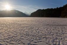 Free Frozen Lake Near To Neuschwanstein In Germany Royalty Free Stock Images - 19102169
