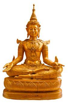 Free Sri Ariya Buddha Statue Isolated Stock Photos - 19102503