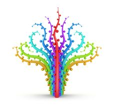Free Abstract Rainbow Tree Stock Image - 19102871