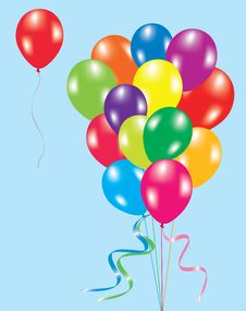 Free Colorful Balloons In The Sky Stock Image - 19103441