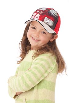 Free Young Girl With Red Cap Stock Images - 19103804