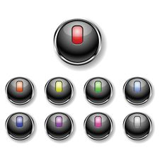Free A Set Of Round Buttons Stock Image - 19104061