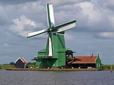 Free Holland Windmill Zaanse Schans Stock Image - 19104791
