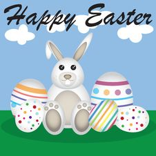 Free Easter Bunny Happy Easter Stock Images - 19105804