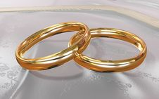 Free Golden Rings Royalty Free Stock Photo - 19107185