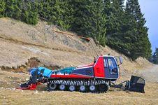 Mountain Snow Excavator Stock Photos
