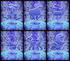 Free Zodiac Sign Set (01) Royalty Free Stock Images - 19108469