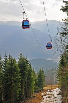 Free Twin Cable Car Royalty Free Stock Photos - 19108678