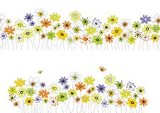Free Pattern With Flowers Royalty Free Stock Images - 19108769
