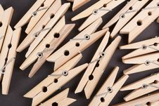 Free Wooden Clothespins Stock Photo - 19108810