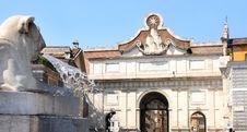 Free Piazza Del Popolo In Rome Italy Stock Photo - 19109040