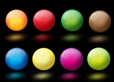 Free Glossy Colorful Abstract Glass Balls Stock Image - 19109091