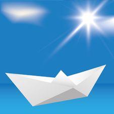 Free Boat Origami Stock Image - 19109351