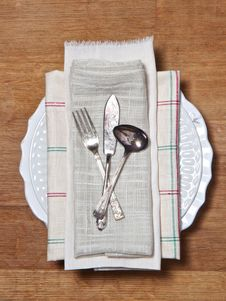 Free Old Cutlery Setting Royalty Free Stock Photography - 19109527