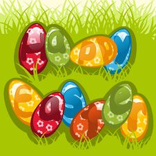 Free Colorful Easter Eggs 3 Stock Photos - 19109733