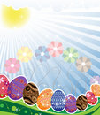 Free Original Easter Eggs  On A Spring Meadow Royalty Free Stock Photos - 19114218