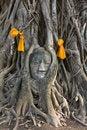 Free Head Of The Sand Stone Buddha Image Royalty Free Stock Photos - 19117908