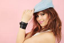 Girl In Cap Stock Image