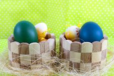 Colour Decoration With Easter Egg Stock Photos