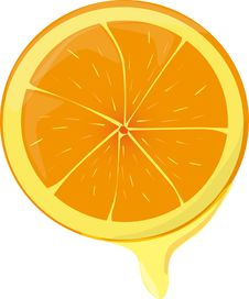 Free Juicy Orange Royalty Free Stock Photos - 19110718