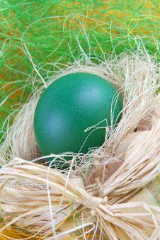 Green Easter Egg Stock Photos
