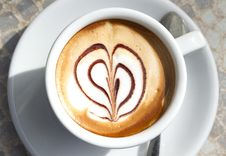 Free A Cup Of Coffee With Heart-shaped Decoration Royalty Free Stock Photo - 19110825