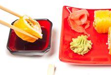 Free Sushi Rolls Royalty Free Stock Photo - 19110885