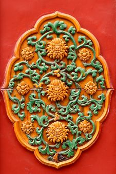 Forbidden City Decorative Details Royalty Free Stock Photography