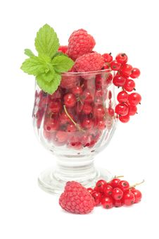 Free Red Currants And Raspberries Stock Image - 19113591