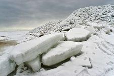 Ice Sea At The Coast Stock Image