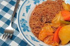 Free Asian Curry Bee Hoon Stock Photo - 19114030