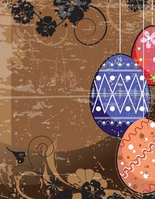 Free Old Easter Scratched Background. Stock Images - 19114214