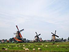 Dutch Windmills , Netherlands Royalty Free Stock Photography